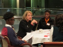 Kate Nielsen gives students tips for public speaking during last fall's Conference